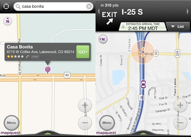 MapQuest picks TomTom Maps to power iPhone and Android turn-by-turn navigation apps