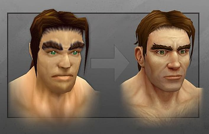 WoW reveals new human and Draenei male models