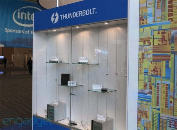 Thunderbolt accessories at IDF 2011: Belkin's Express dock, Seagate drives and PCIe expansion cards (video)