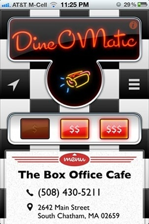 Daily iPhone App: Dine-O-Matic chooses a restaurant for you