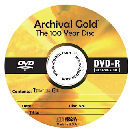 Delkin's 25GB Archival Gold BD-Rs will be around longer than you