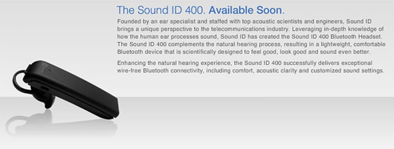 Sound ID 400 Bluetooth headset packs long list of unusual features