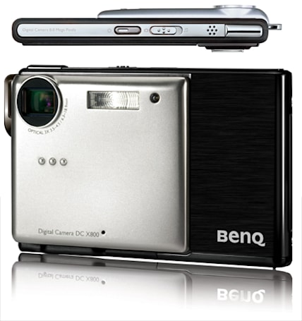 BenQ's emaciated 8 megapixel DSC X800: just barely three-dimensional