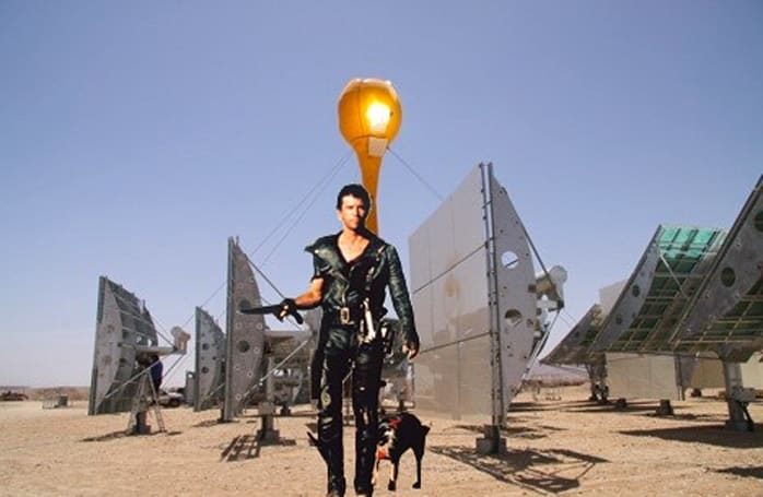 AORA builds sci-fi-looking solar/hybrid plant in the Israeli desert