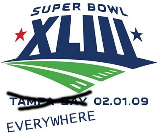 Super Bowl XLIII airing in 230 countries, over half in HD