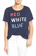 Sundry 'Red White Blue' Graphic Cotton