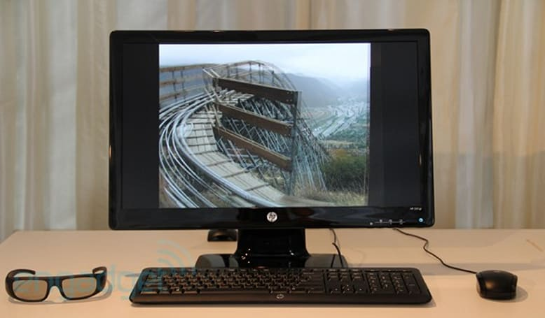 HP embraces this 3D thing, outs 2311gt monitor and second-gen Wireless TV Connect