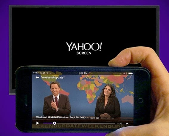Yahoo Screen for iOS now supports AirPlay and live video broadcasts