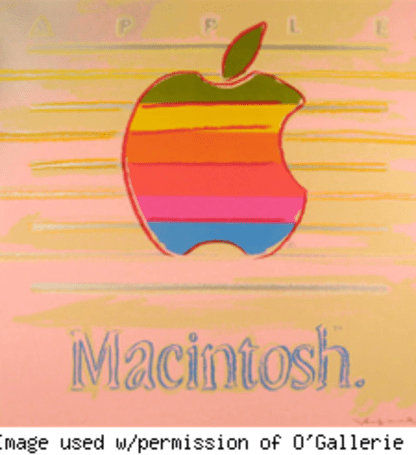 Bid on this Andy Warhol Apple logo serigraph