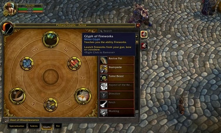 Hunter glyph changes in patch 5.0.4