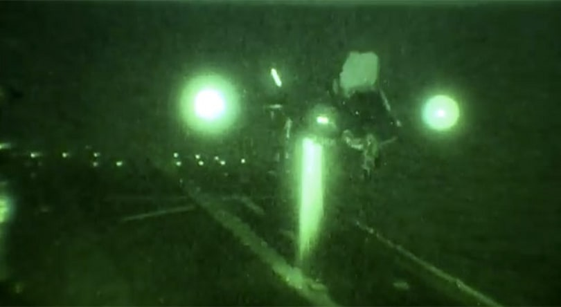 Visualized: F-35B fighter's vertical landing, in the dark (video)
