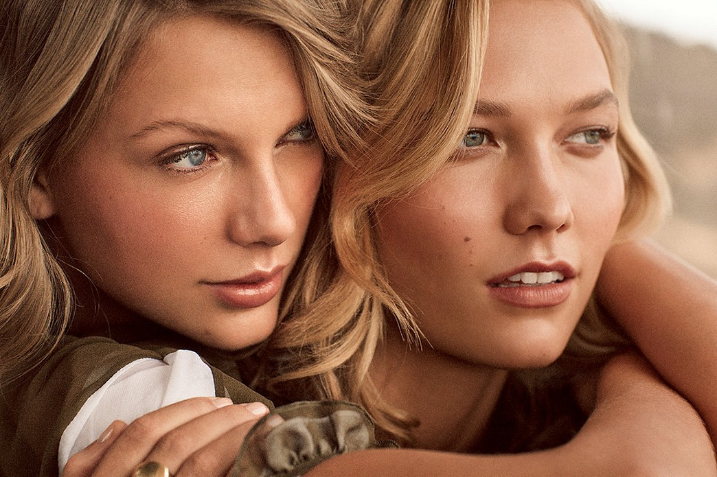 Taylor Swift and Karlie Kloss cover Vogue's March 2015 issue