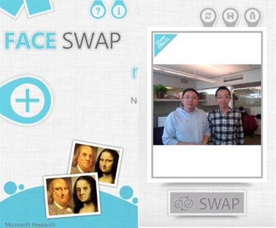 Tired of your face? Use Face Swap to try your friend's on for size