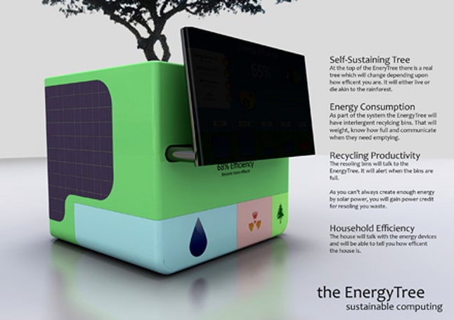 EnergyTree PC concept ransoms a tree to make you conserve energy