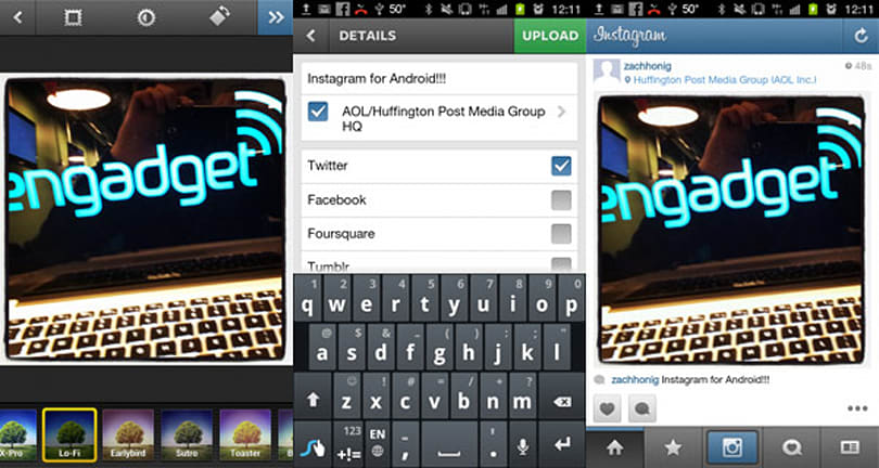 Instagram for Android hands-on