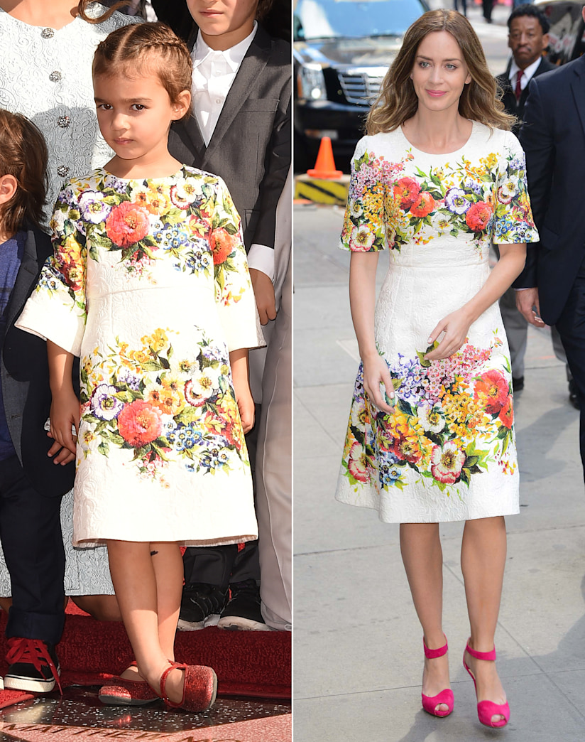 Vida McConaughey and Emily Blunt: Who wore floral Dolce & Gabbana better?