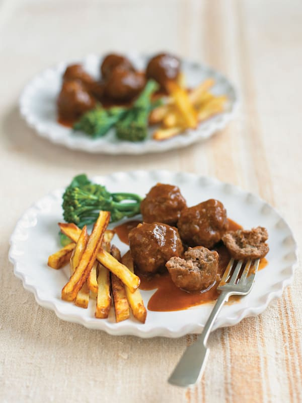 how to make beef meatballs with gravy