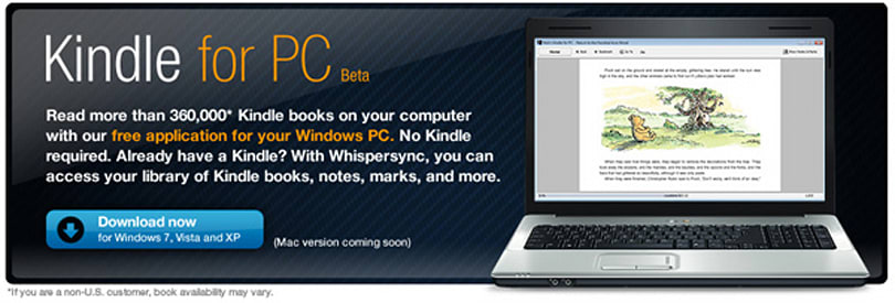 Kindle for PC app out now, Mac version to soon follow