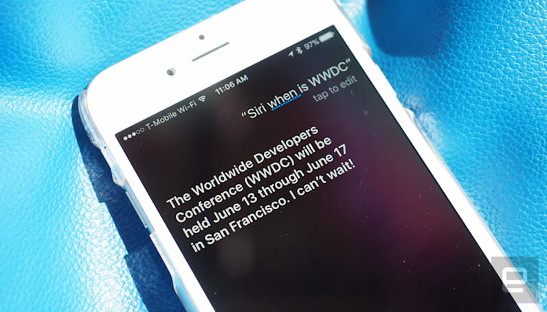 Siri reveals Apple's WWDC event will begin June 13th