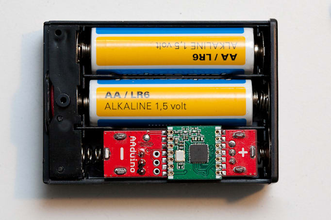 Arduino clone is as small as an AA battery