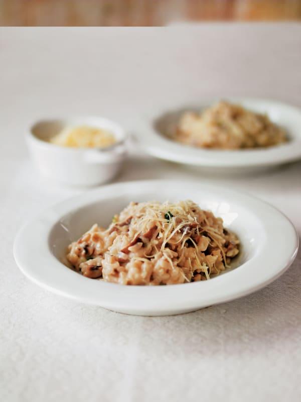 Creamy Mushroom and Chive Risotto recipe