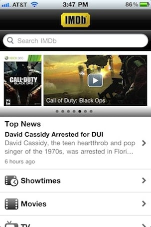 IMDB apps updated with social network integration, global movie showtimes