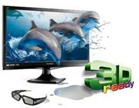 ViewSonic equips 24-inch V3D245wm-LED monitor with built-in 3D emitter