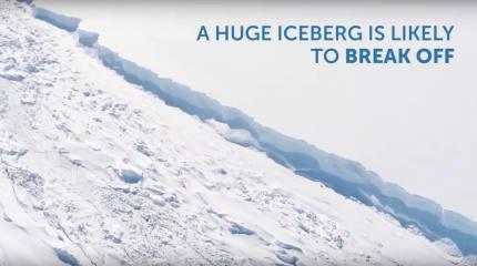 動画:南極の氷に巨大なひび割れ進行中。長さ180km、分離すれば棚氷全体の崩壊、海面上昇も