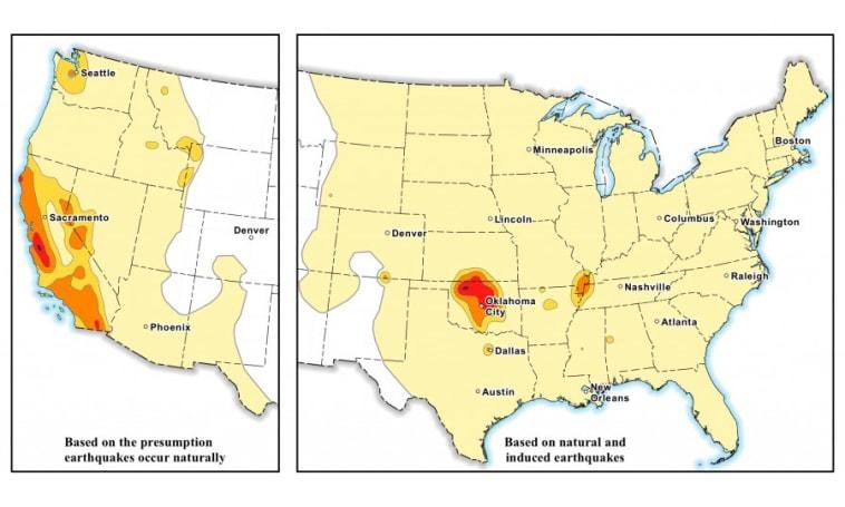 Drilling makes Oklahoma as earthquake-prone as California