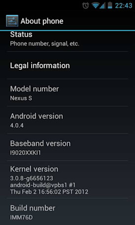 Android 4.0.4 factory images hit the web for GSM Galaxy Nexus