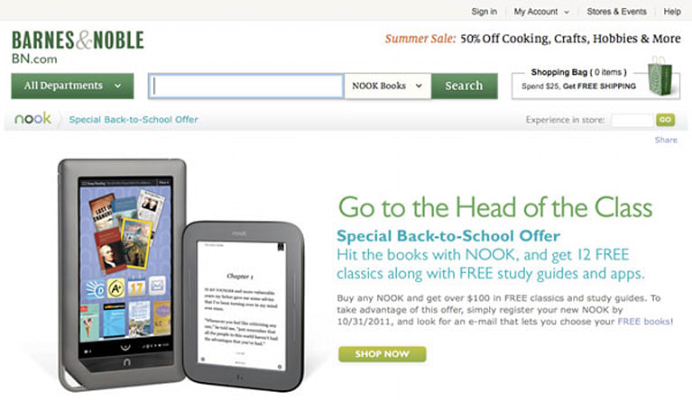 Barnes & Noble offers back to school Nook deal, adds more to your reading list
