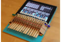 Clothespin piano lets you play music on your iPad