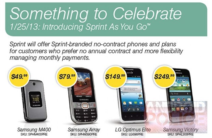 Sprint to launch pay as you go service with four handsets, all you can eat plans from $70