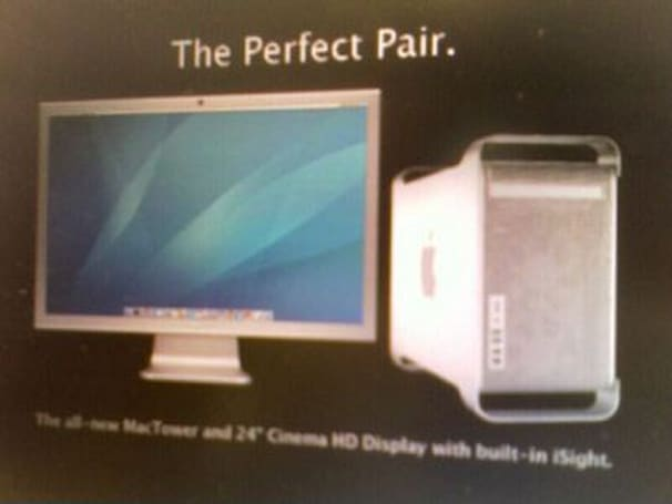 "Apple rumor du jour: ""MacTower"" and 24-inch, iSight-ed Cinema Display"