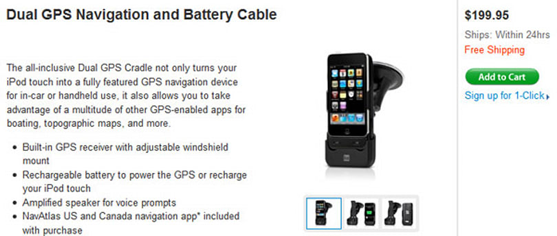 Dual Electronics iPod touch GPS dock ships at long last