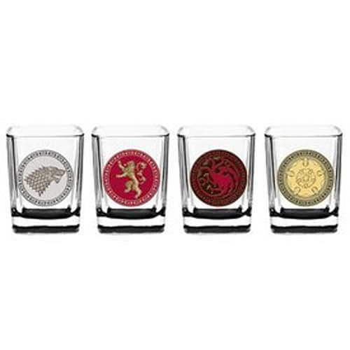 Game of Thrones House Sigil Shot Glass Set (Set of 4)