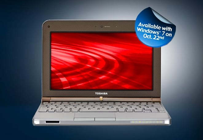 Toshiba announces touchscreen notebooks, netbooks for Windows 7 launch