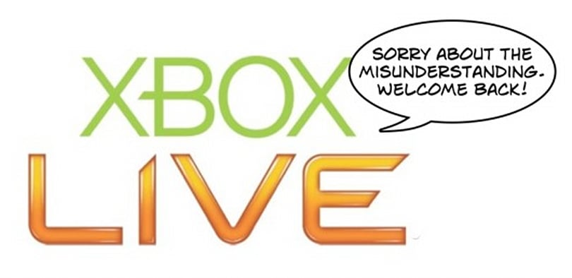 Microsoft reversing recent Xbox Live bans caused by software error