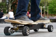 ZBoard electric skateboard sneakers-on (video)