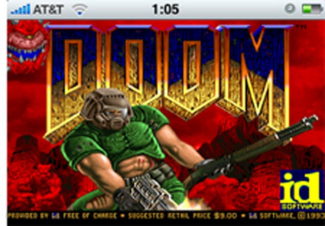Doom on the iPhone... almost