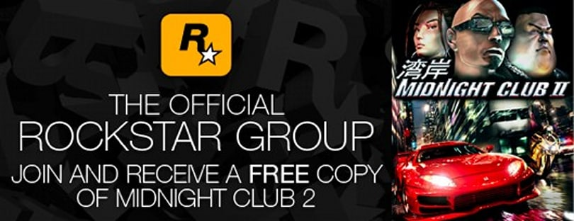 Join Rockstar club on Steam, get free Midnight Club 2