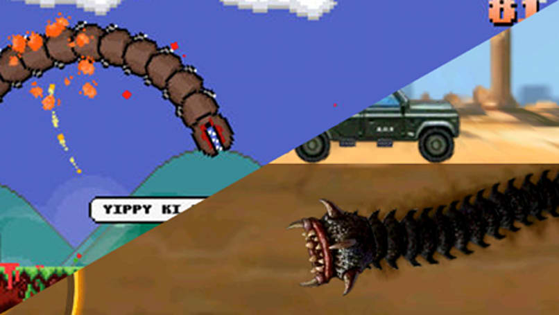 App Battle: Super Mega Worm vs. Death Worm