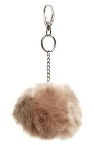 Topshop Faux Fur Pom Key Ring