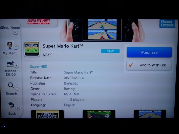 Super Mario Kart races onto North American Wii U eShop
