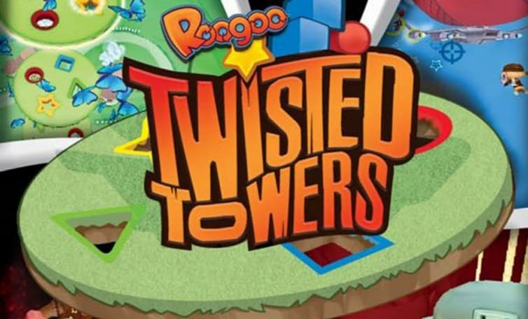 Kid-friendly Roogoo Twisted Towers and Attack box art
