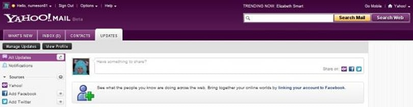 Yahoo upgrades its email for everyone, puts Facebook updates and tweets in your inbox