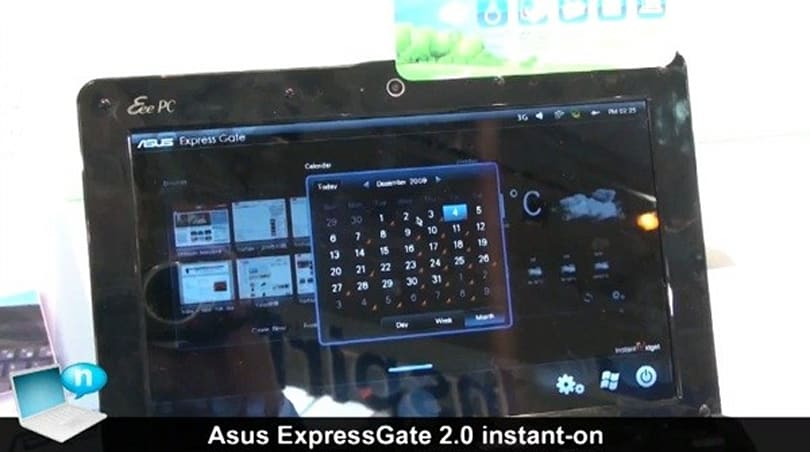 ASUS' Express Gate 2.0 instant-on OS demoed on video