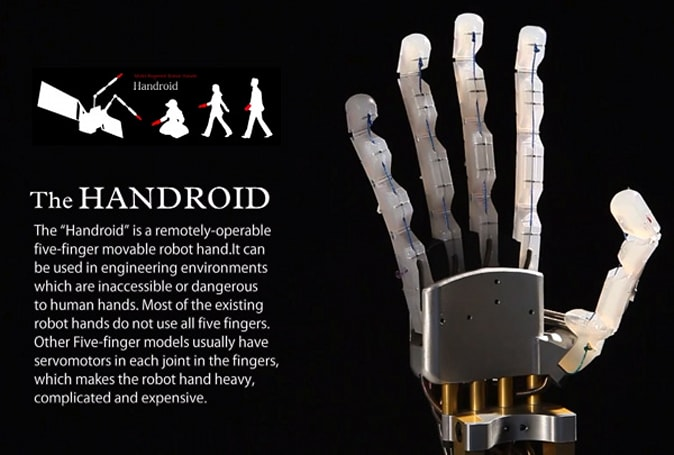 ITK's Handroid: a softer, gentler robotic hand (video)