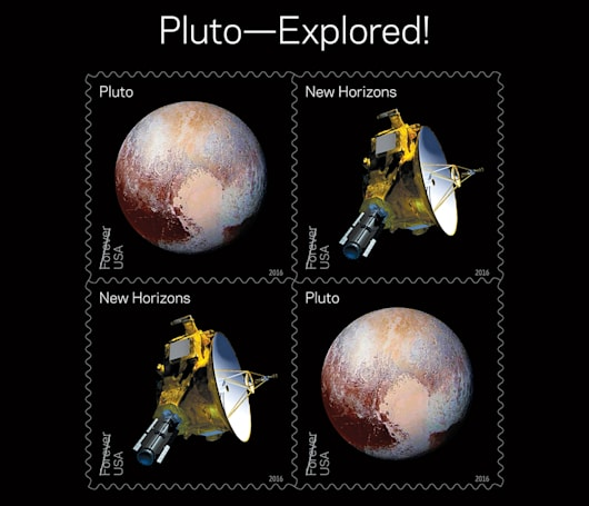 USPS' 2016 stamps celebrate Pluto's exploration