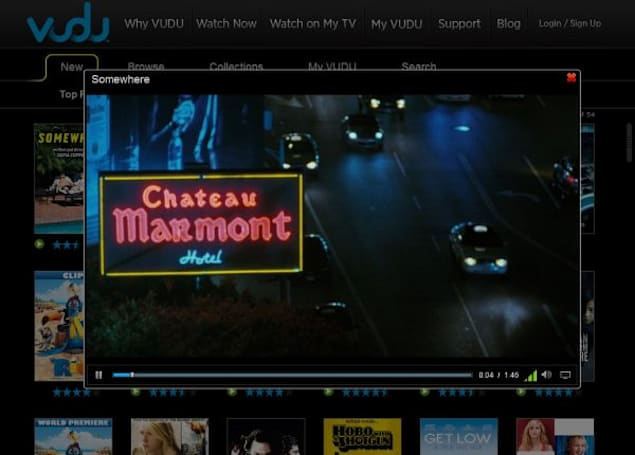 Vudu starts streaming movies to the browser, but only in SD